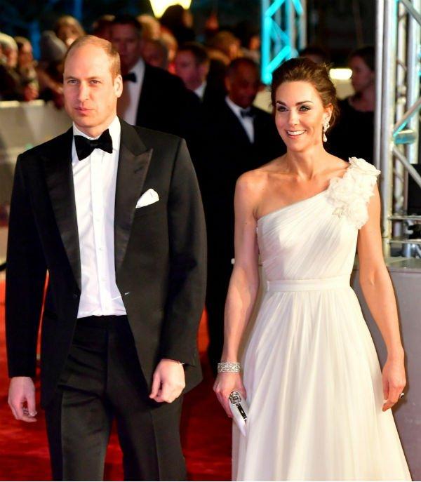 Prince William and Kate Middleton BAFTA 2019