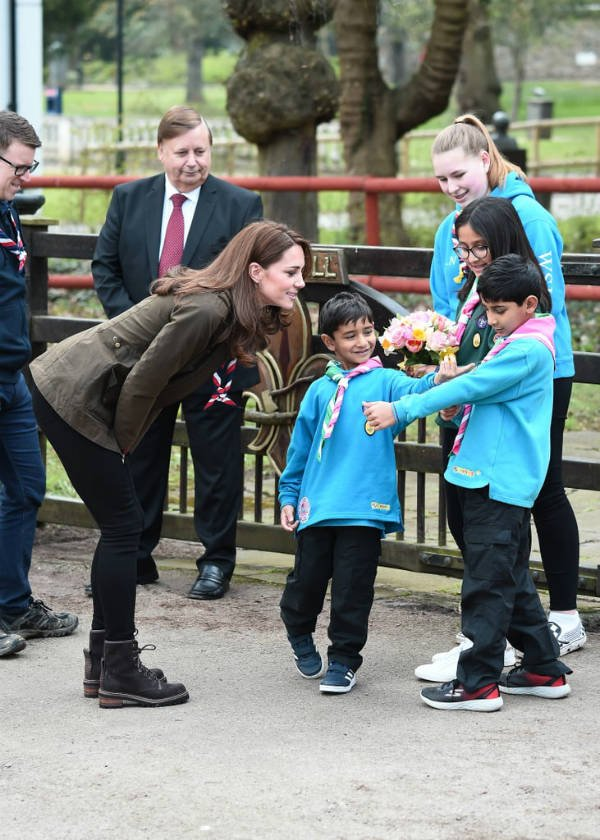 Kate Middleton at Scouts' headquarters in Gilwell Park 2