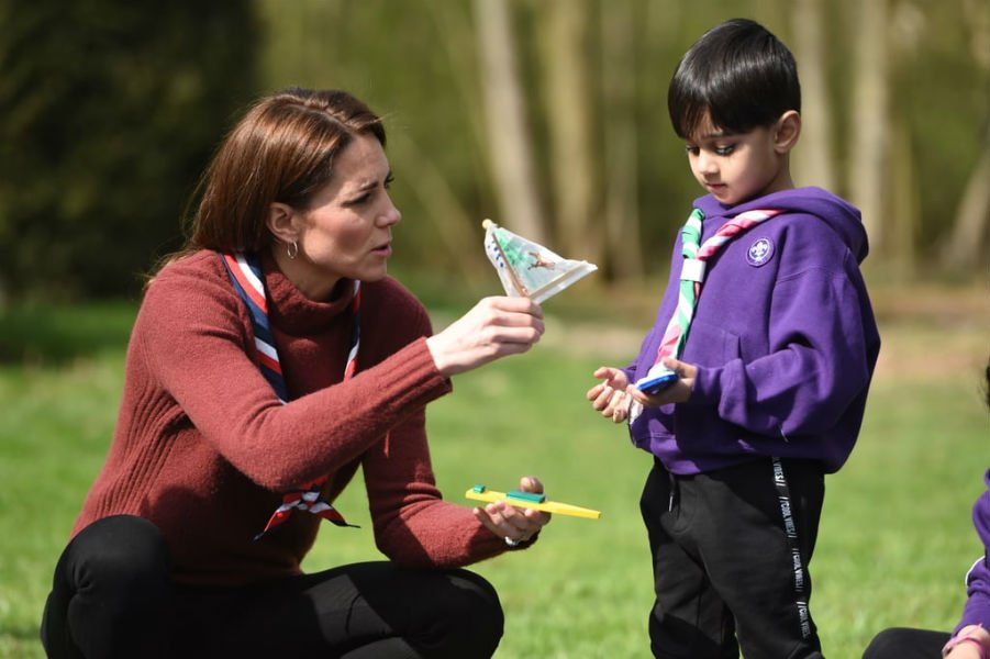 Kate Middleton at Scouts' headquarters in Gilwell Park