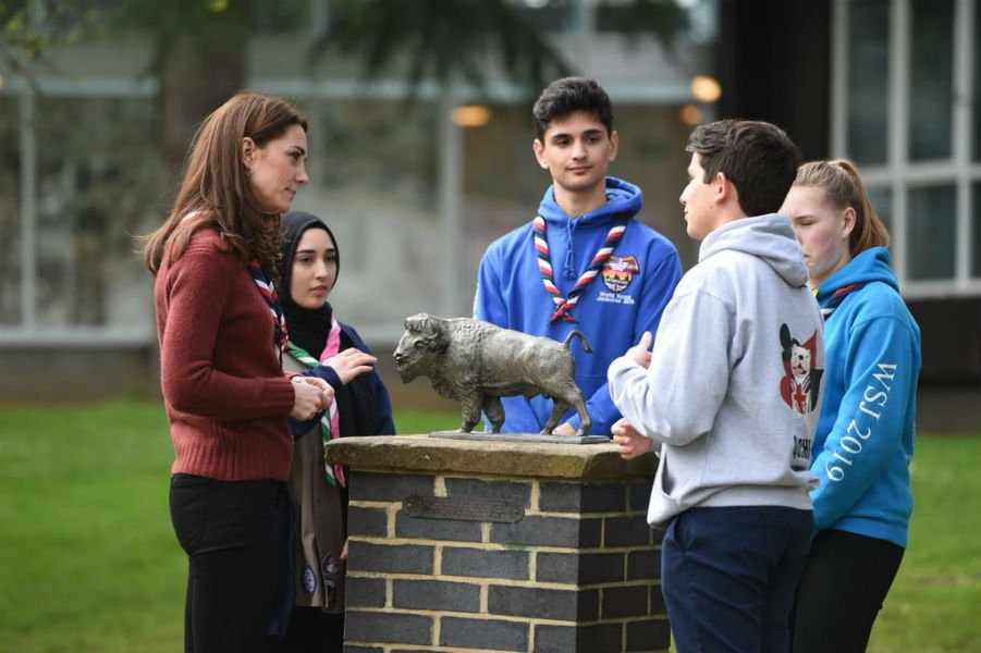 Kate Middleton visit to the Scouts headquarters in the eastern edge of London