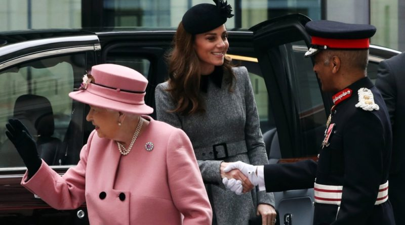 Kate and the Queen visit King's College