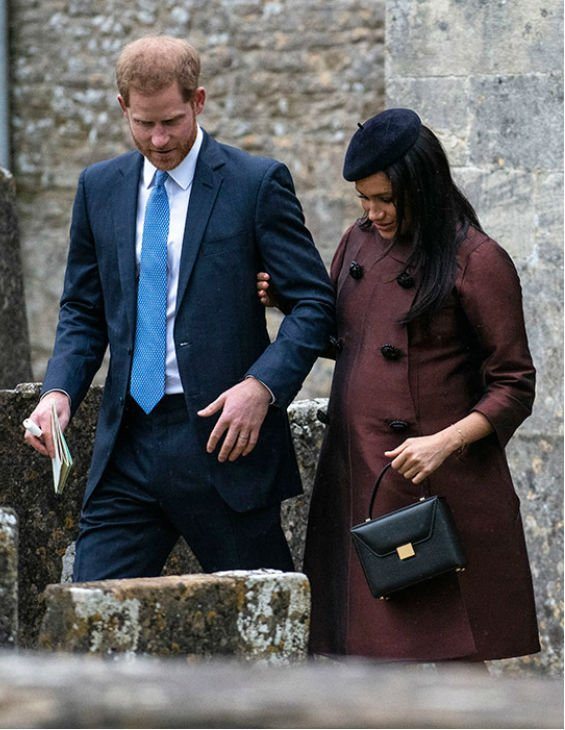 Meghan and Prince Harry at Christening Lena Tindall
