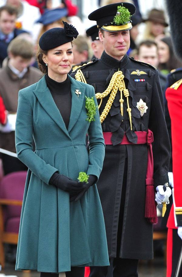 William and Kate celebrating St. Patrick's Day in 2013