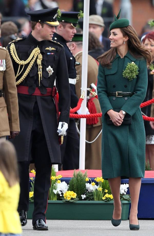 William and Kate celebrating St. Patrick's Day in 2014