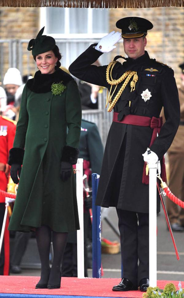 William and Kate celebrating St. Patrick's Day in 2018