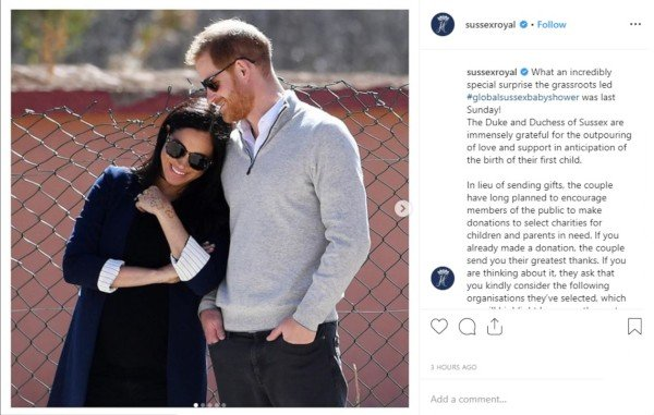 Harry and Meghan Instagram