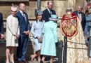 Prince Harry, Autumn Phillips, Zara Tindall, Mike Tindall, Prince William, Kate Middleton and Queen Elizabeth
