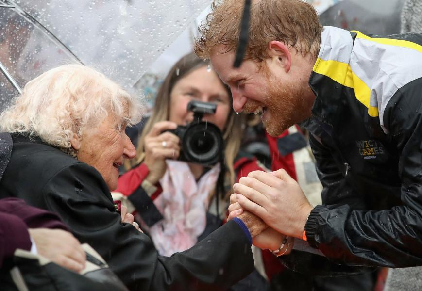 Prince Harry and Daphne Dunne