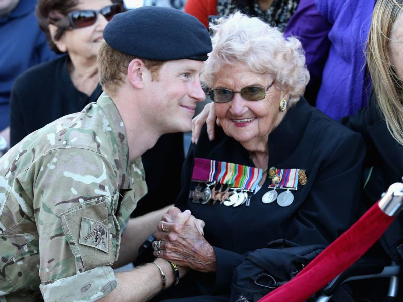Prince Harry meets Daphne Dunne