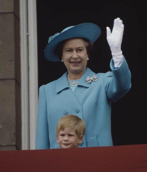 Queen Elizabeth II with Prince Harry