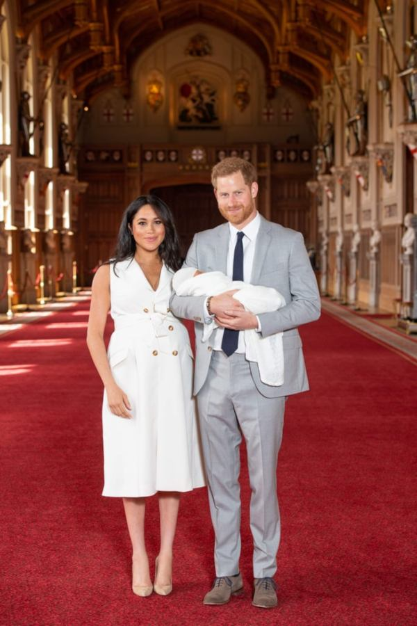 Harry And Meghan Introduced Their Newborn Son At Windsor Castle