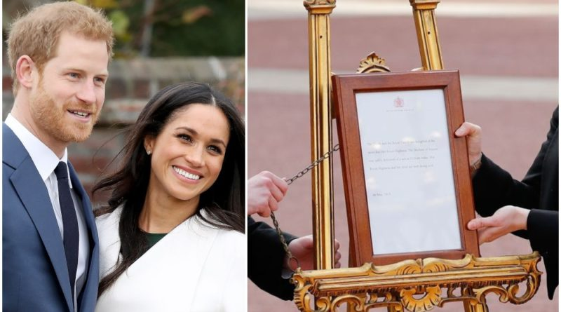How Harry And Meghan Broke A New Tradition With Royal Baby Easel