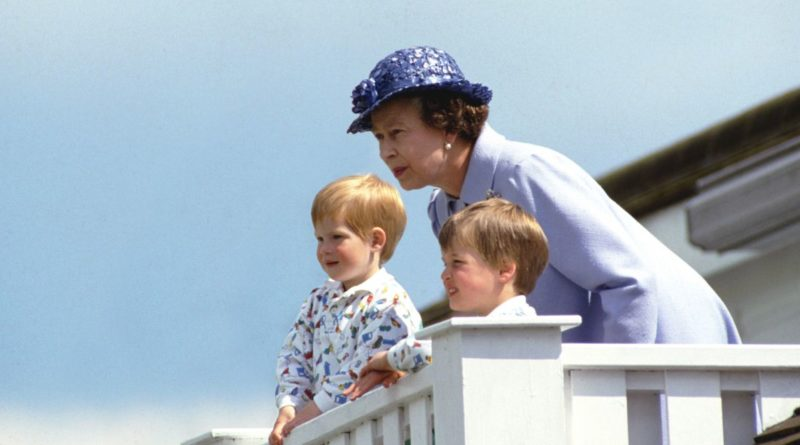 Prince Harry, Prince William and Queen