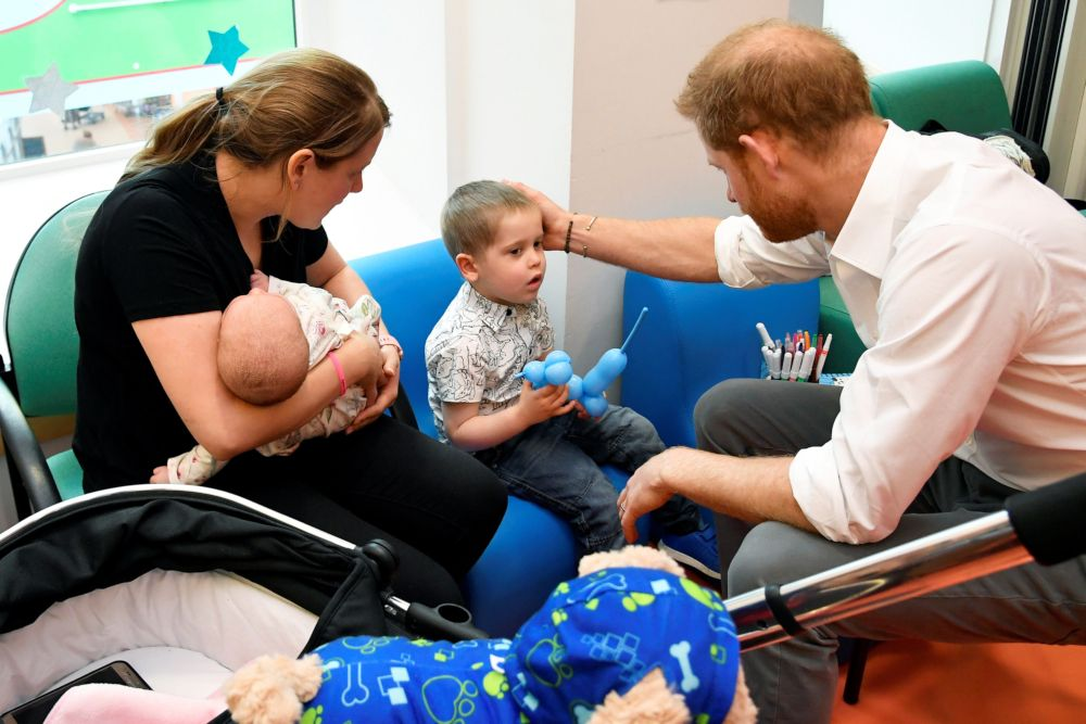 Prince Harry visit to a special center that was once visited by his late mom Princess Diana