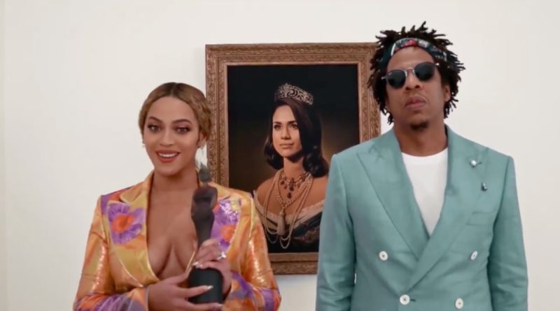 beyonce and jay z and images of meghan markle painting 2