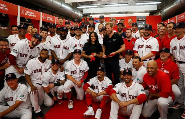 Meghan Joined Harry To Attend Major League Baseball Event