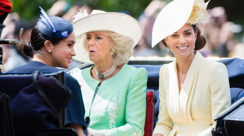 Meghan Markle, Camilla, Duchess of Cornwall and Kate Middleton