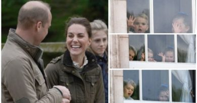 The kids were excited to welcome Kate and William.