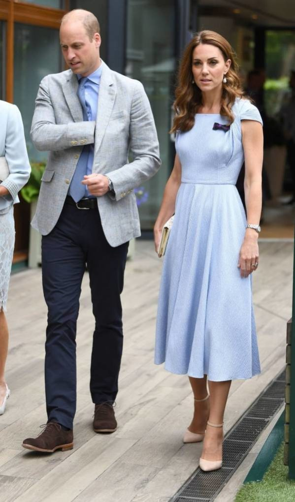 Kate And William Arrive At Wimbledon To Watch Men's Final