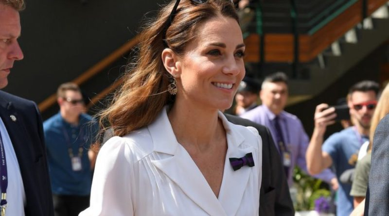Kate Stuns In White As She Arrives At Wimbledon