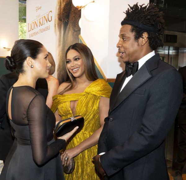Meghan And Harry Talk About Archie With Beyoncé And Jay-Z At Lion King Premiere