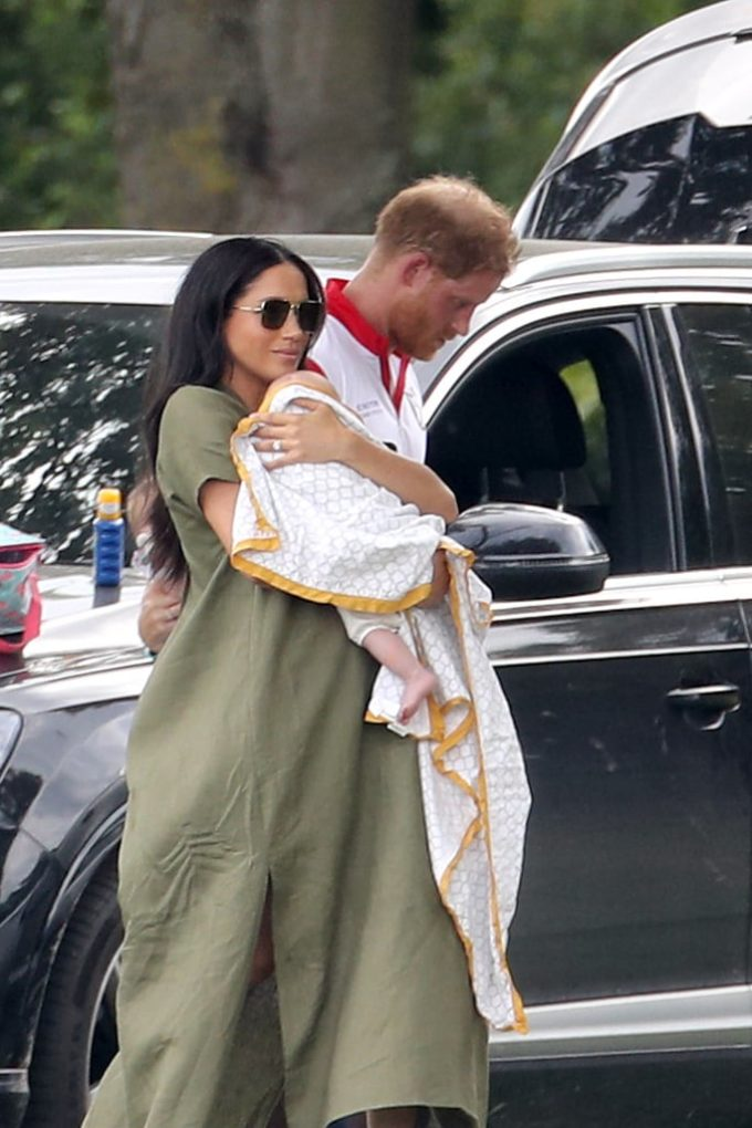Meghan Markle Prince Harry Baby Archie at Polo Match 2019