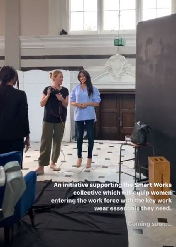 Meghan Gives Sneak Peak Of New Clothing Line For Smart Works In Surprise Video