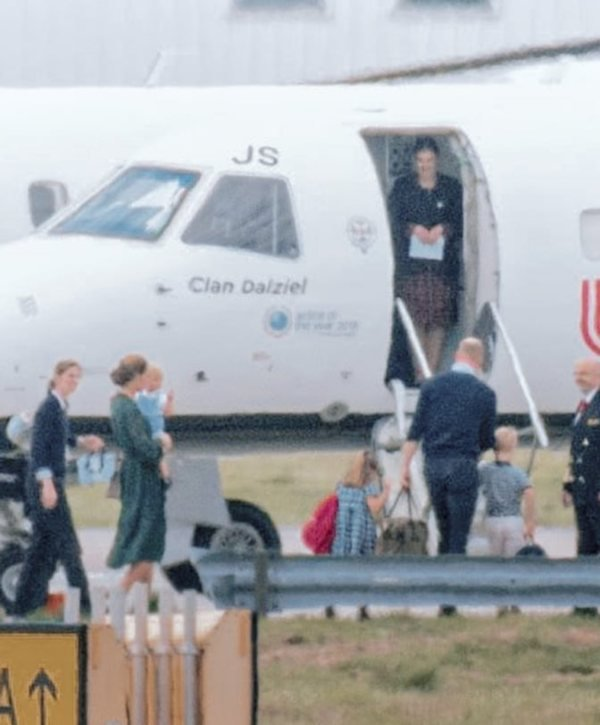 William, Kate And The Children Leave Balmoral As They Are Spotted At Airport