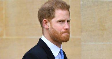 Prince Harry sad