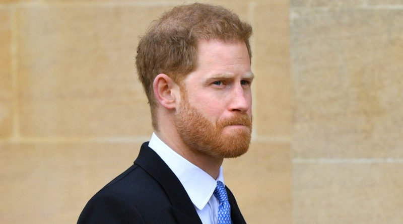 Prince Harry sad