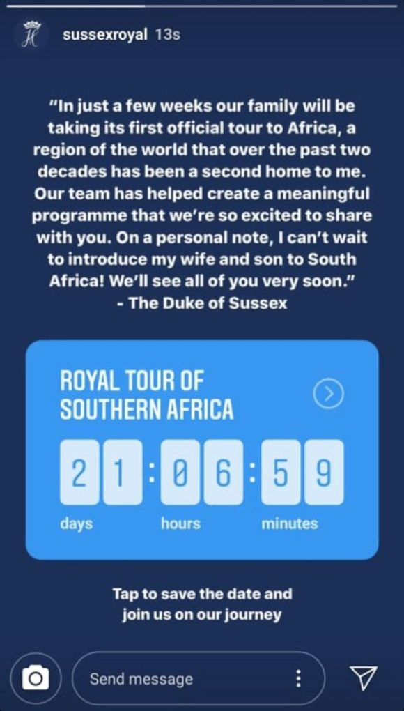 Harry And Meghan Reveal Africa Tour Dates
