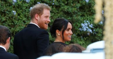 Harry And Meghan Step Out In Rome To Attend Misha Nonno's Wedding