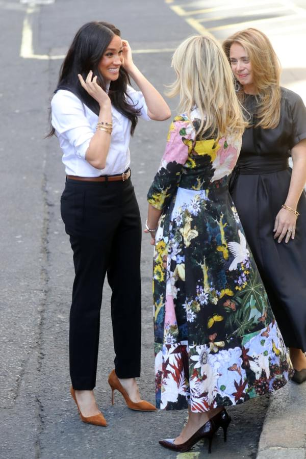 Meghan Steps Out For First Post-Maternity Engagement To Launch Smart Works Collection (7)