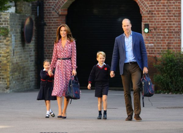 Princess Charlotte Arrived For First Day Of School At Thomas's Battersea With