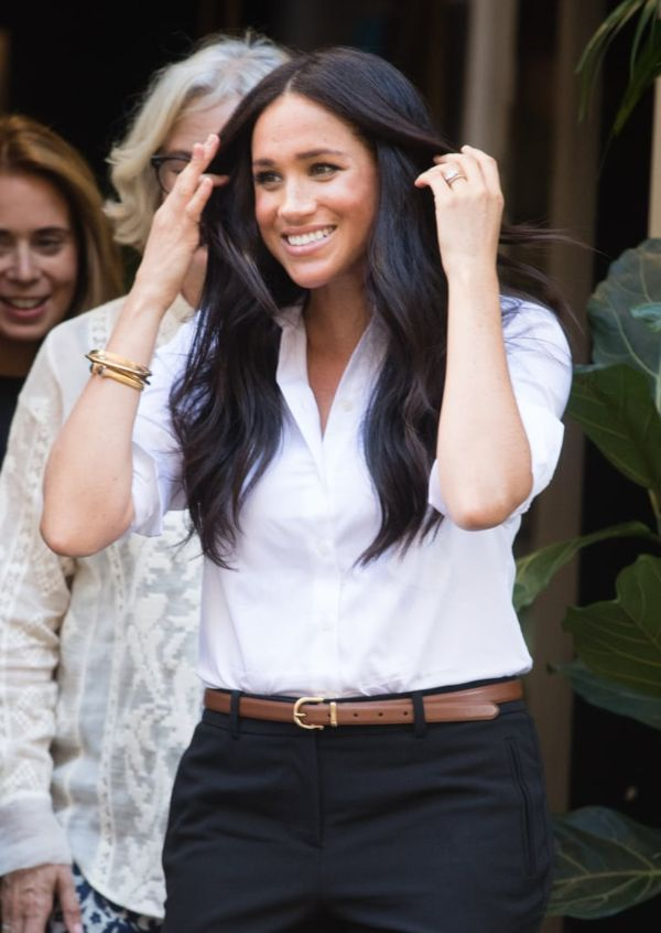 the Duchess of Sussex made an official return to work as she carried out her first solo engagement
