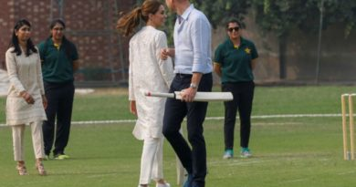 Kate and William play cricket