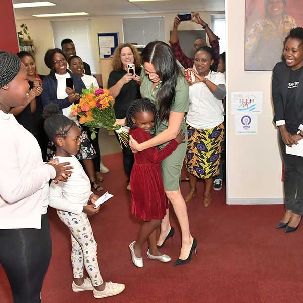Meghan visit's to ActionAid