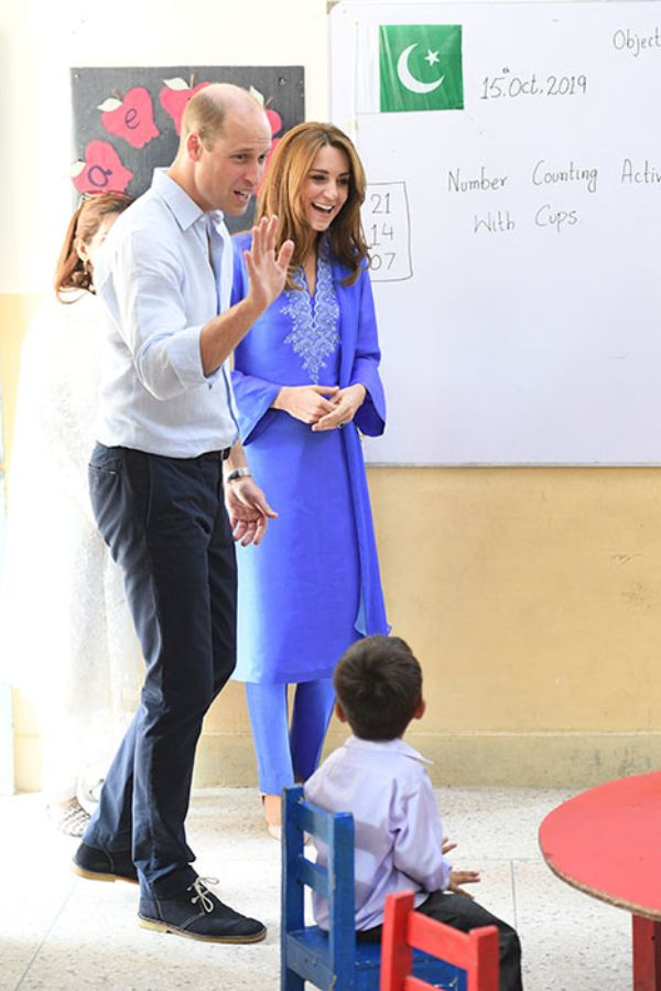 Prince William and Kate Middleton visit Islamabad school