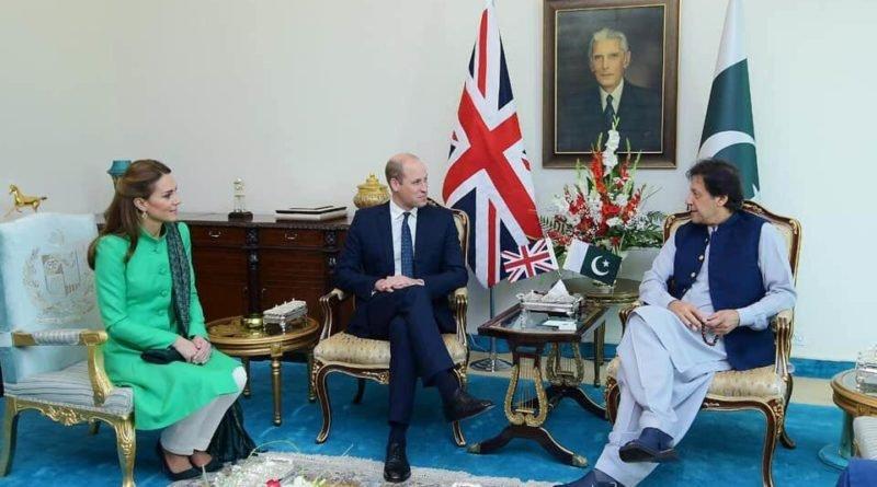 Prince William and Kate met Prime Minister Imran Khan
