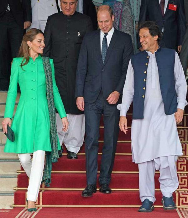 Prince William And Kate Meet Pakistan Prime Minister Imran Khan