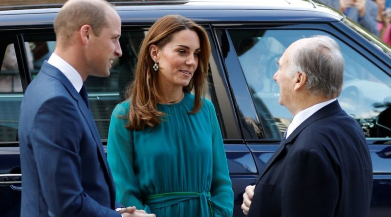 William And Kate Step Out For Meeting With The Aga Khan