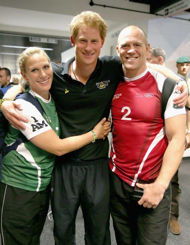 Zara-Tindall-Prince-Harry-and-Mike-Tindall Rugby