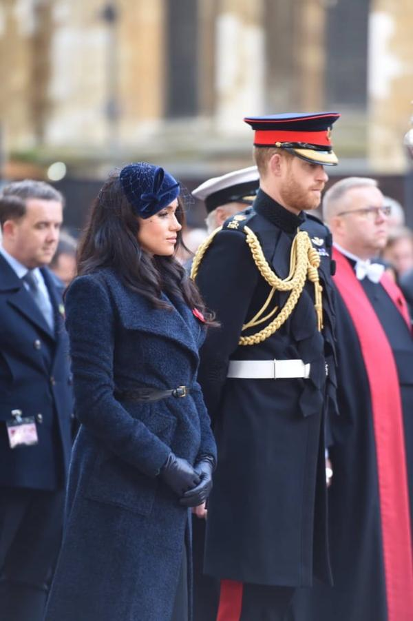 Harry And Meghan Lay Crosses At Field Of Remembrance