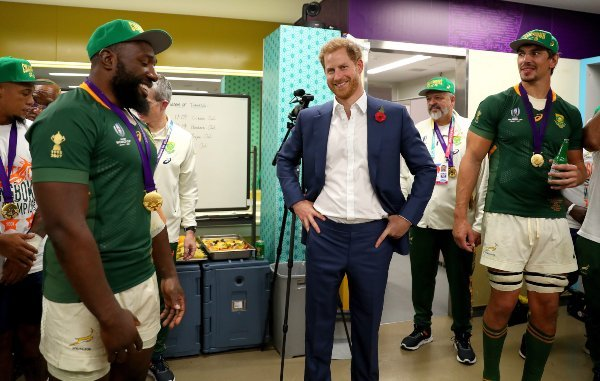 Prince Harry South Africa rugby team