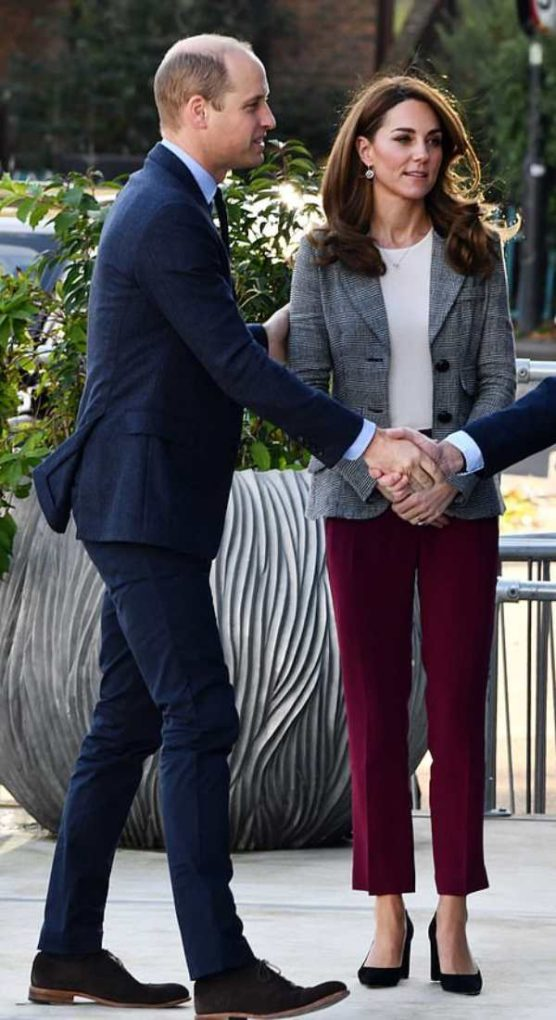 William And Kate Step Out To Support Mental Health Text Support Service