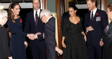 William, Kate, Harry And Meghan Arrive At Festival Of Remembrance