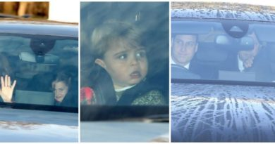 George, Charlotte, And Louis Arrived For Christmas Lunch At The Queen's