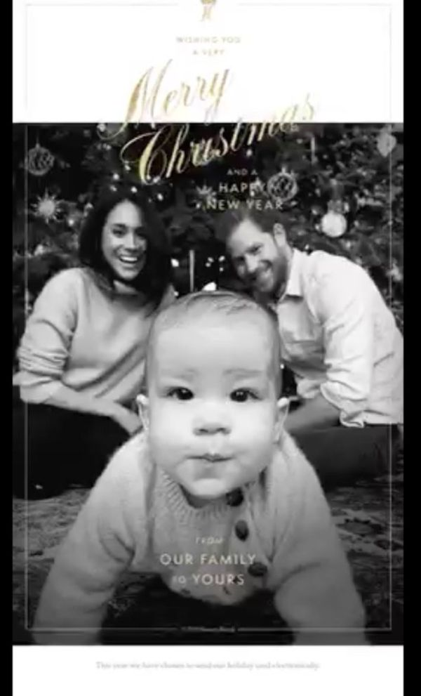 Harry And Meghan First Christmas Card With Archie Released (2)