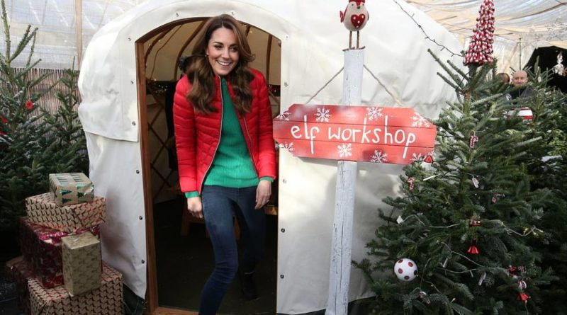 Kate Joined Children On Festive Day Out At Christmas Tree Farm
