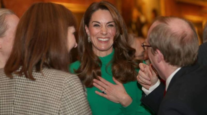 Kate Sparkles In Green Outfit For The Queen's NATO Reception